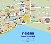 Map of vientiane